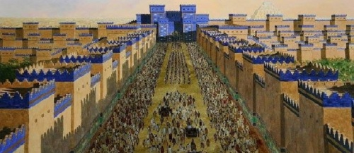 The Processional Way in Ancient Babylon for the New Years Akiti / Akitu (Zagmuk) Festival